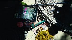 Kabel yang ditemukan di lokasi. (foto:MS44)