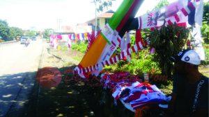 Pernak pernik kemerdekaan di Malinau mulai ramai.