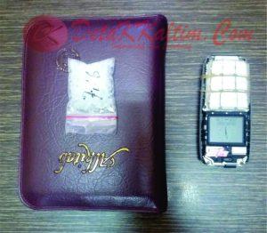Alkitab dan Sabu-Sabu sebagai barang bukti yang berhasil disita Polisi. (foto:Ade0