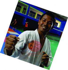 Pelatih Karate Kaltim Jalu Sharin Meliala