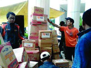 Bantuan untuk korban banjir di Bima-